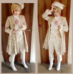 Lou Graves - Metamorphose Flock Pattern Coat, Alice And The Pirates White Frill Blouse - Valentines Delivered By Highwayman