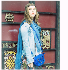 Maria Braicova - Zara Tshirt, Zara Scarf, Aza Bag, Tmall Colourful Cardigan - NameIT