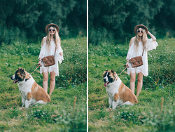 ♡Anita Kurkach♡ - Sheinside Bag, Sheinside Dress, Sheinside Hat - WHITE BOHO OUTFIT!