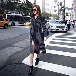 Jenny Tsang - Silk Dress, Boots - Le Tie : NYFW