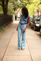 Tipa Tipa - Forever 21 Top, H&M Jeans - Denim on Denim