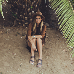 Jamie L ♡ - The Sting Hat, The Sting Jacket, Cluse Watch, Teva Shoes - I JUST REALLY WANNA LET THIS FIRE RUN BRIGHT