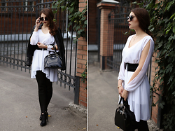 Helena Ivanova - Short Dress ( Worn As Something Cool :D ), Black Leggins, Sunglasses - The call me Beckham xoxo
