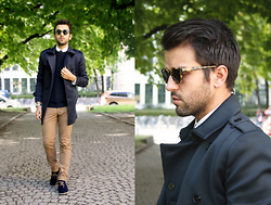 Marc Galobardes - Zara Trench, H&M Trousers, Tailor4less Shirt - FORMAL SUNDAY