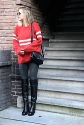 Jint B. - Invito Over The Knee Boots, Tommy Hilfiger Crossbody Bag - Over the knee