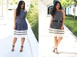 Johnnalynn Lynch -  - How to Style a Dress That is a Size Too Big
