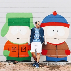 Hai Phan - Banana Republic Shorts, Asos Denim Bomber Jacket, Adidas Sneakers - Mrhaiphashion 12 | Fall is here