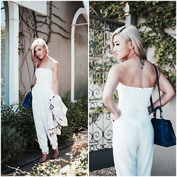 Gigi Lam - Bag, White Jumpsuit, Sandals - WHITE-OUT