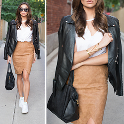 Tienlyn . - Stan Smiths, Slash Tank, Suede Skirt, Zane Sunglasses, Zoe Bag - TORONTO #1