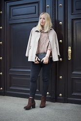 Clara - Zara Coat, Mango Pullover, Asos Skinny, H&M Shoes - Simply chic | fashionvernissage
