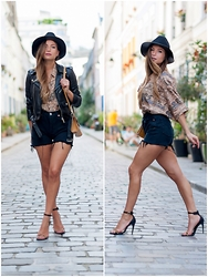 MELODY La Minute Fashion - Vintage Shirt, Levis Shorts, Heels, Vintage Clutch - Look rich shop cheap !