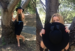Laura La - Black Dress, J Mclaughlin Hat, Dkny Jeans Belt - Witchy look!