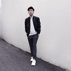 Louis Edward - Topman Leather Jacket, H&M Pants, Zara Tee - The other