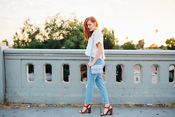 Maddie T - Topshop Button Up, Topshop Mom Jeans, Urban Outfitters Heels - Sunsets in Silverlake