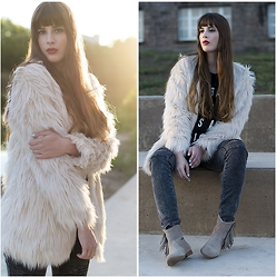 Andrea Funk / andysparkles.de - Otto Fake Fur Jacket - Furry Autumn Look