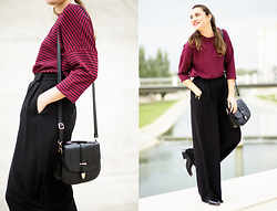Clémence A Kutch Life - Balsamik Burgundy, Zara Xl, Balsamik Shouldered, Asos Squared - Red Red WIne
