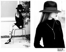 Queen Horsfall - Mykitsch, Mykitsch, Mykitsch, Topshop Lace Up, Aqua Turtleneck, Forever 21 Fedora Hat - In Black and White