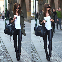 Barbora Ondrackova - Balenciaga Leggings, Givenchy Boots - KHAKI FOR AUTUMN