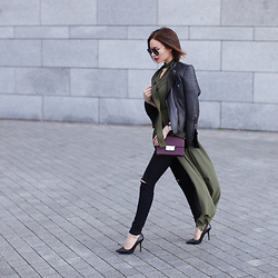 Sonya Karamazova - Milly Bag, Zara Jacket - ARMY GREEN