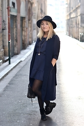 Paris Grenoble - H&M Hat, Bala Boosté Necklace, La Fée Maraboutée Dress, Stradivarius Boots, New Look Coat - Bala Booté