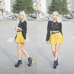 Cátia Gonçalves - Romwe Skirt, Jeffrey Campbell Lita, Romwe Blouse - This place inside my mind A place I like to hide