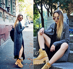 Darina Suprun - Zara Coat, Jeffrey Campbell Boots - We Move Lightly