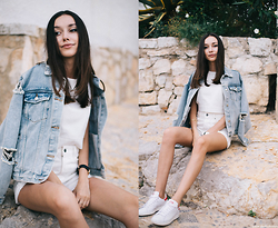 Bea G - Denim Jacket, Shorts, Top, Sneakers, Watch - Summer Days