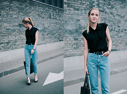 Anna Pogribnyak - Asos Top, Romwe Jeans, Wholesalebuying Bag, Vagabond Sandals - Long time no see