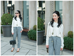 Lisa Valerie Morgan - Goodnight Macaroon Blouse, Chanel Bag, Juicy Couture Pumps, Samantha Wills Pendant, Goodnight Macaroon Pants - Nothing is Ever Black and White
