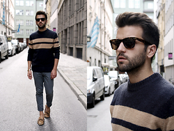 Marc Galobardes - H&M Sweater, Forever 21 Jeans, Ray Ban Sunglasses - MODERN ESSENTIALS SELECTED BY BUCKRAM