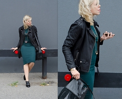 Liat Neuman - Urban Outfitters Midi Dress, Urban Outfitters Jacket, Zara Necklace, Aldo Oxford Shoes - Mixed Emotion