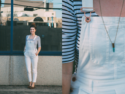 Nicole Buhler - Garage Clothing Shirt, H&M Overalls, Forever 21 Shoes, Brandy Melville Necklace - Downtown In Overalls