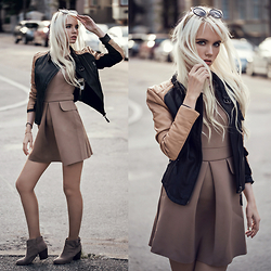 Oksana Orehhova - Ax Paris Dress - MILKY CHOCOLATE FALL