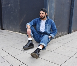Manij A. - Topman Overall, H&M T Shirt, Dr. Martens Shoes - THIS IS DENIM