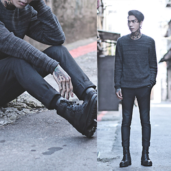 IVAN Chang - Allsaints Sweater, Asos Pants, Allsaints Boot - 151015 TODAY STYLE
