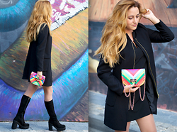 Martina Manolcheva - H&M Coat, Mango Dress, Valentino Bag - Rainbow Bag