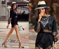 Perventina Ols - Ramy Brook Top, Keepsake The Label Short, H&M Hat - A Milano