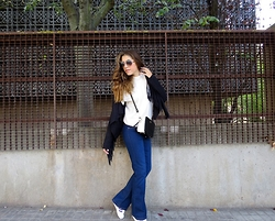 Ana Blacksmith - American Apparel Jersey, Zara Jacket, Paco Martinez Bag, Mango Jeans, Adidas Sneakers - 70'S ARE ALIVE