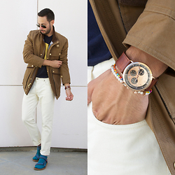 Reinaldo Irizarry - Eddie Bauer X Ilaria Urbinati Jacket, M. Nii Shirt, Forever21 Jeans, Teva Sandals, Richer Poorer Socks, Filippo Loreti Watch - HOW TO MAKE SOCKS AND SANDALS WORK