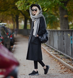 Ebba Zingmark - Brixtol Coat, Reval Denim Guild Hat, & Other Stories Scarf, Style Moi Bag, Lee Jeans, Nike Sneakers, Gentle Monsters Glasses - NOTHING TO FEAR
