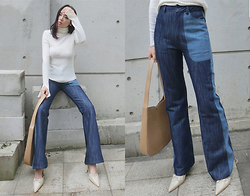 Sam Z - Qing Studios Bell Bottom Jeans - You're irreplaceable