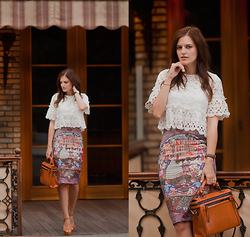 Viktoriya Sener - Romwe Top, Romwe Skirt, Zara Bag - DARK BROWN