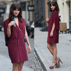 Lexicon of Style Alexandra Dieck - 3ny Blazer Dress, Marni Heels, Lexicon Of Style Scarf - The Blazer Dress