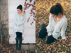 Nicole Buhler - Free People Sweater, Free People Dress, Garage Clothing Leggings, Charlotte Russe Shoes, Forever 21 Necklace - Neighbourhood Strolling
