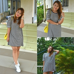 Dana Lopez - Forever 21 F21 Tshirt Dress, H&M Yellow Bag - Say You'll Never Let Me Go