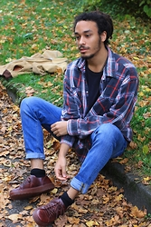 Philip Antony - Asos Shirt, Dr. Martens Shoes, Asos Jeans - Brown