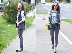 Rimanere Nella Memoria - Only Shirt, Amor, Trust & Truth Jeans, Picard Bag - Grey Colors