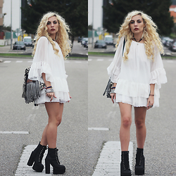 Cátia Gonçalves - Parfois Backpack, Dresslink Dress, Jeffrey Campbell Chunky Boots - I'll tear my heart out Before I get out