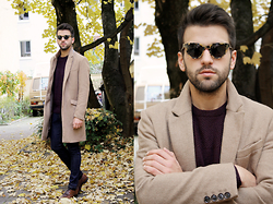 Marc Galobardes - H&M Coat, Mango Man Sweater, Hank Kjobenhavn Sunglasses - AUTUMN COAT