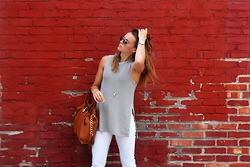Aija Thompson -  - Summer Vibes in White Denim